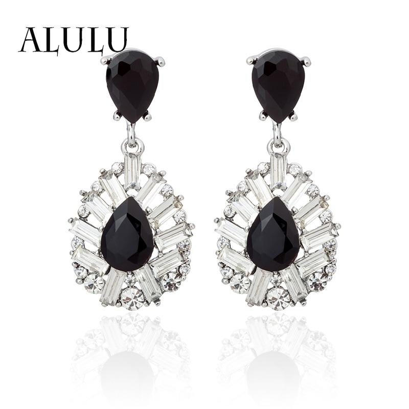 ALULU 2017 nové módní šperky velké černé a bílé kameny - Bižuterie