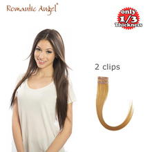 18″/20″ 1pcs 6g 2 clips Super Thin Invisible Seamless Tape Clip In Hair Extensions 100% Remy Human Hair 6A