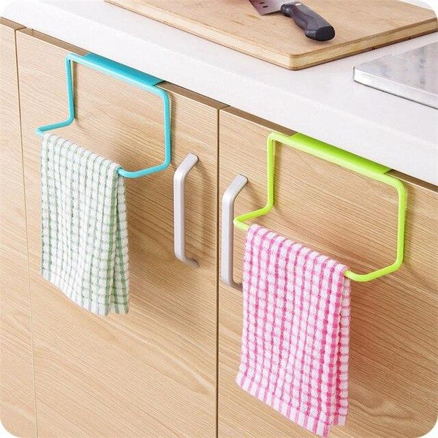 1 pz Cucina Organizzatore Asciugamano Cremagliera Appeso Titolare Mobiletto del