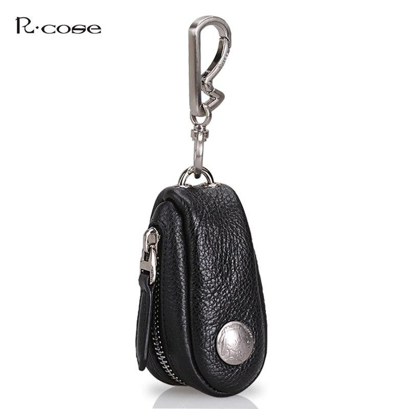 цена на Cow Genuine Leather Men&Women Key Holder Car Key Bag Wallet Fashion Housekeeper Keys Organizer Zipper Key Case Bag Pouch Purse