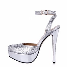 New Style Women High Heels Platform Glitter Bling Open Peep Toe Woman Sexy Dress Wedding Prom Wine Party Shoes Sandals Pumps стоимость