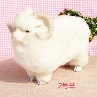 simualtion white goat model ,plastic& furs sheep 27*14*23cm toy handicraft,home decoration Xmas gift w5746