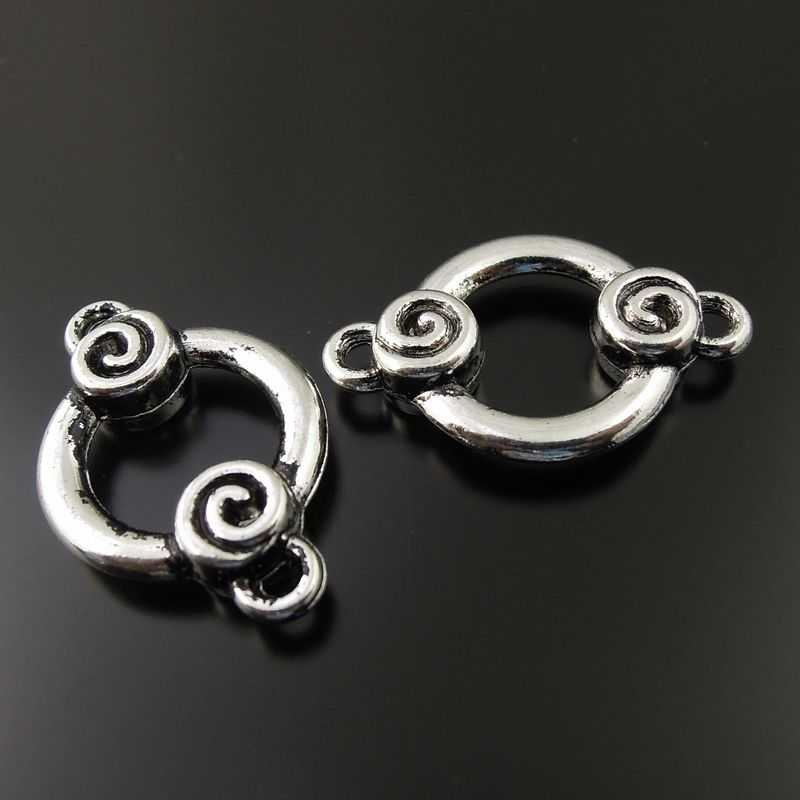 48d714e78f7db 15PCS Antique Silver Tone Alloy Circle Rings Connectors Necklace Pendant  Jewelry Crafts Decor Jewelry Finding 20 17 4mm 36565