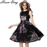 Vintage Beading Tunic Slim Black Ball Gown Vest Dress Runway Women Sexy Sleeveless Tank Elegant Evening Party Dresses Vestidos