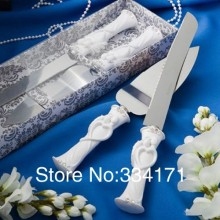 Fashion wedding cake knife Bride and Groom Design Cake Knife Server Set 1005