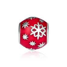CKK 925 Sterling Silver Christmas Snowflake Beads Suitable For Original Pandora Bracelet DIY Production Jewelry Accessories