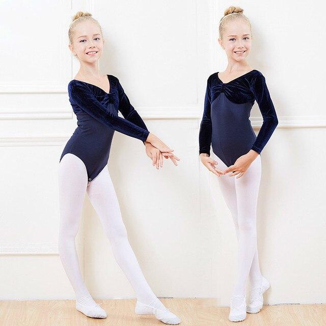 ec45e04845db velvet Long Sleeve classical ballet tutu professional Dress Dancer ...