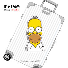 Simpson Cartoon Anime Sticker Family Cool Waterproof Suitcase Sticker Skateboard Notebook Guitar Child Toy A0577 Stickers QY32(China)