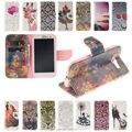 Top qualidade stand flip caso capa de couro para samsung galaxy s3 siii S IV S4 S5 S6 Borda i9300 i9500 Tampa do telefone com suporte de Cartão titular