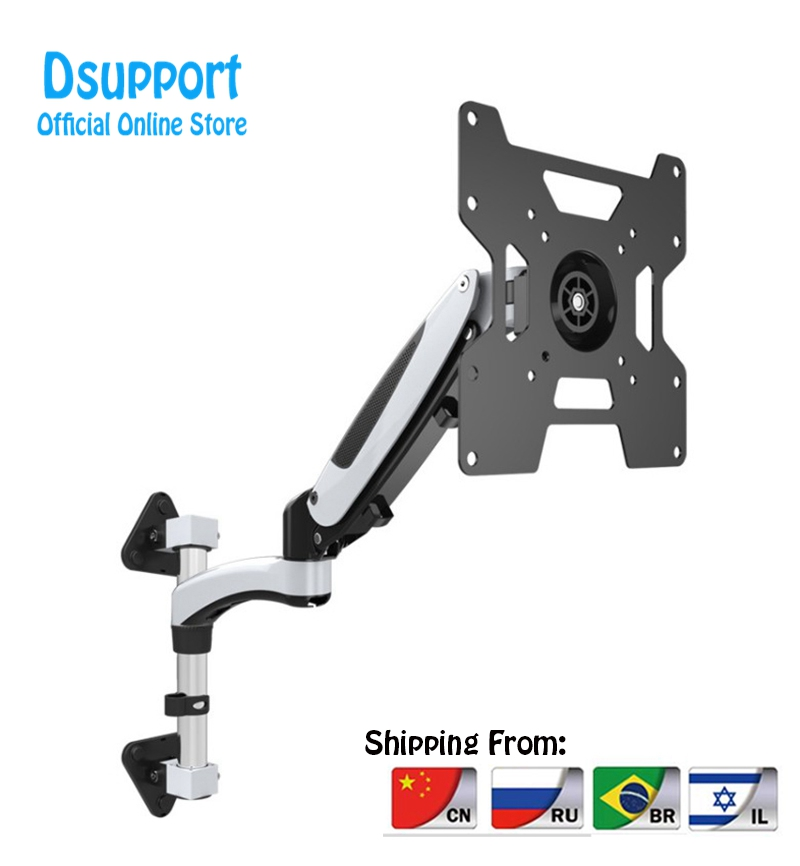 35 55 Heavy Duty Gas Spring Full Motion Flexible LCD LED Monitor TV Wall Mount Bracket