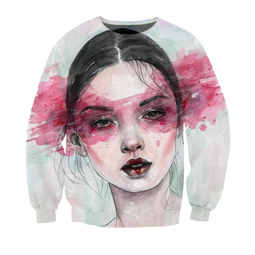 Luck Harajuku Comic Thin Sweatshirts Women 3d Print Chinese Koii Cute Girl Tracksuits Casual Female Tops Streetwear Sweatshirt Hoodies & Sweatshirts