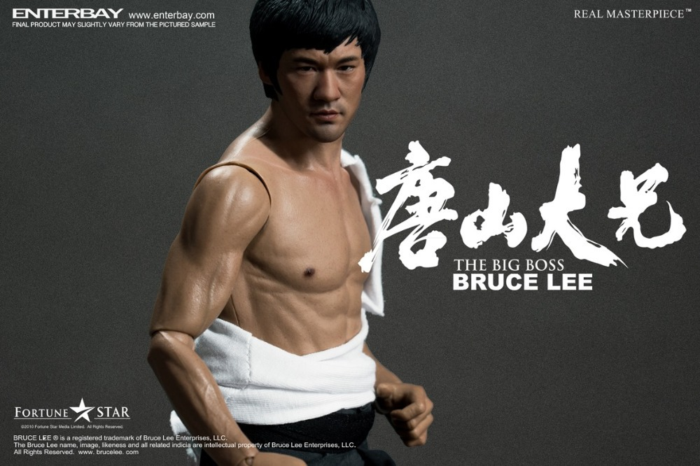 1/6 scale figure doll Kung fu star bruce lee with 2 heads The Big Boss 12 Action figure doll Plastic Model Toys фигурка planet of the apes action figure classic gorilla soldier 2 pack 18 см