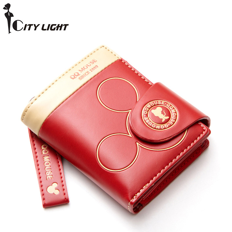 Women small wallet cartoon mickey cute coin purse hasp card holder womens wallets and purses female wallets famous brand 1