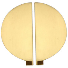 1 Set Semicircle Solid Brass Cabinet Knobs and Handles Drawer Furnitures Cupboard Wardrobe Book Door Pull