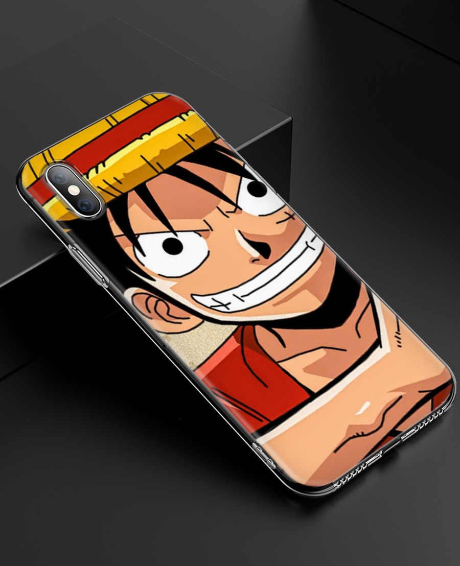 Одна штука Обезьяна D Луффи силиконовый чехол для телефона для Apple iPhone 6 6 S 7 8 плюс X XS MAX XR 5S 5C SE 5 7 плюс 6splus чехол Coque