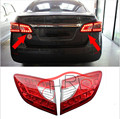 1 Par Car Styling Tronco Traseiro Lâmpada LED Dentro Montagem Lanterna Traseira luz Traseira ABS Acessórios Para Nissan Sentra 2014 2015