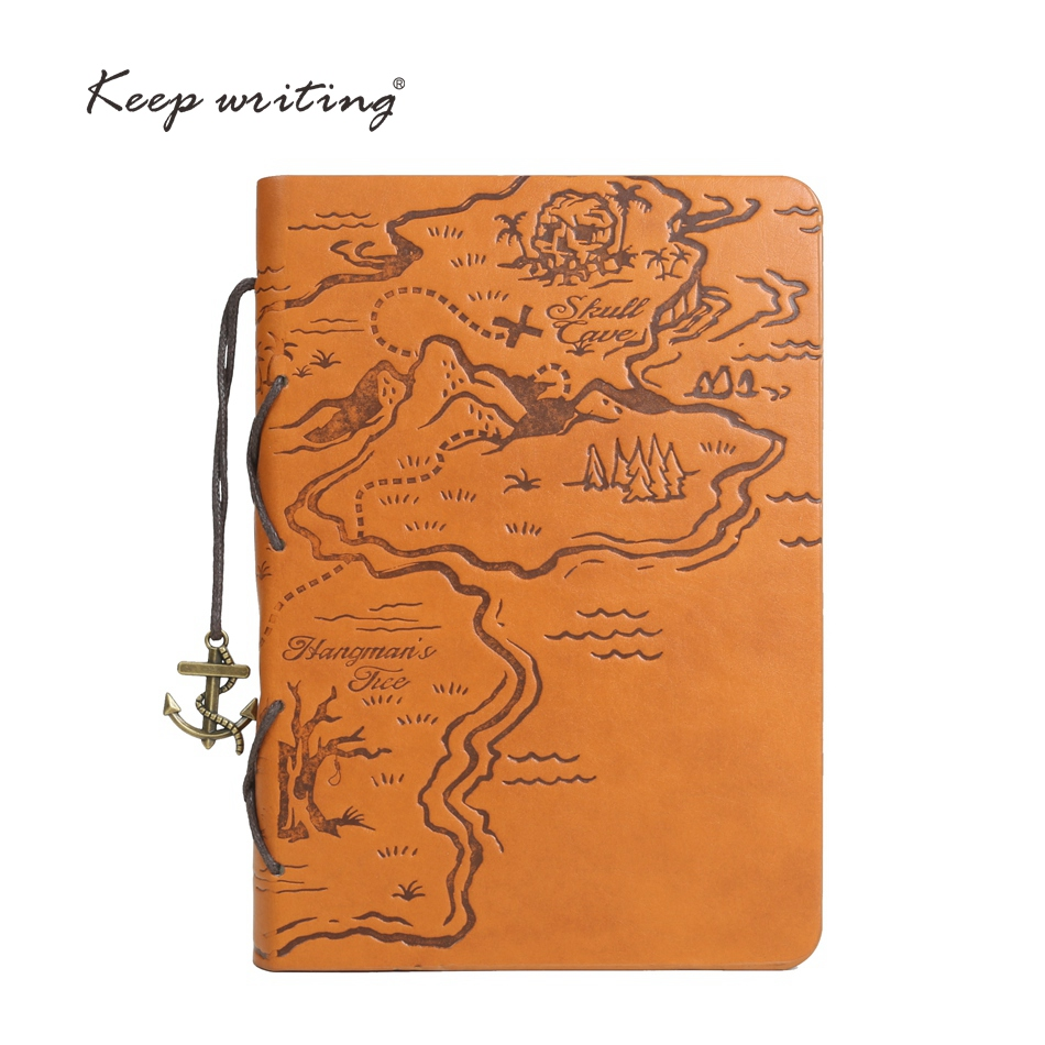 Retro Journal King of the sea Pirate treasure map Pirates of the Caribbean style Week plan Planner sea book Vintage NOTOBOOK map of fates