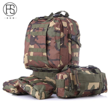 High Capacity Waterproof Outdoor Sport Backpack Military Camouflage Hiking Camping Climbing Backpack Fishing Shoulder Bag
