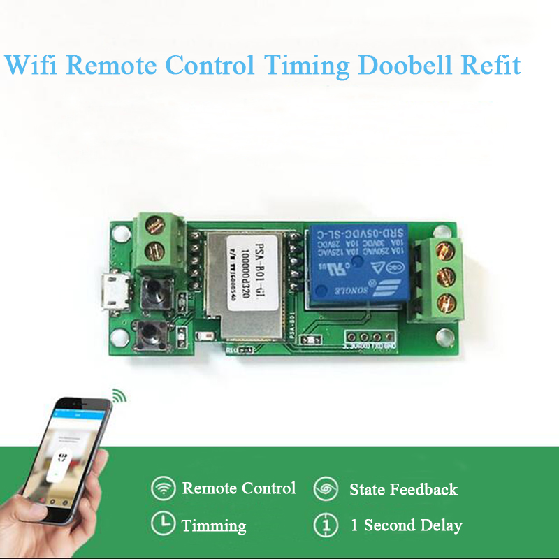 Itead sonoff micro switch Module 5V jog / self-locking Switch phone app smart Remote Timing Wifi Smart Remote Access Refit itead sonoff wireless wifi smart switch app control home automation module timer smart switch new