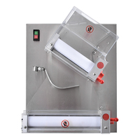 370W Electric Pizza Dough Roller Machine Stainless Steel Max 12 inch Pizza Dough Press Machine Sheeter Food Processor APD30