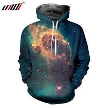 UJWI Espacio Estrella 3d impresión sudaderas con capucha hombres Hip Hop  largo Drawstring sudaderas chaqueta del uniforme del bé. 46af6aaf02d