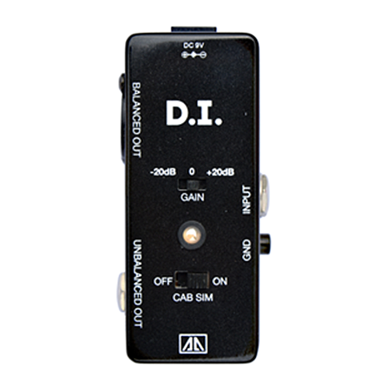 DI Box Effect Pedal Effects for Electric Guitar Cabinet Simulator Function True bypass Balanced/Unbalanced Output AA Series aroma adr 3 dumbler amp simulator guitar effect pedal mini single pedals with true bypass aluminium alloy guitar accessories