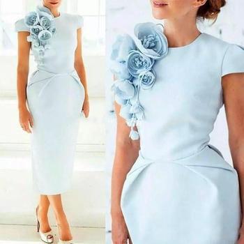 Vestido azul claro boda