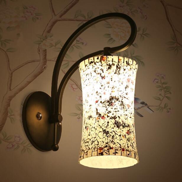 Single Head Modern Simple LED Wall Lamp Creative Bedside Living Room Aisle Bedroom Glass Wall Light Free Shipping