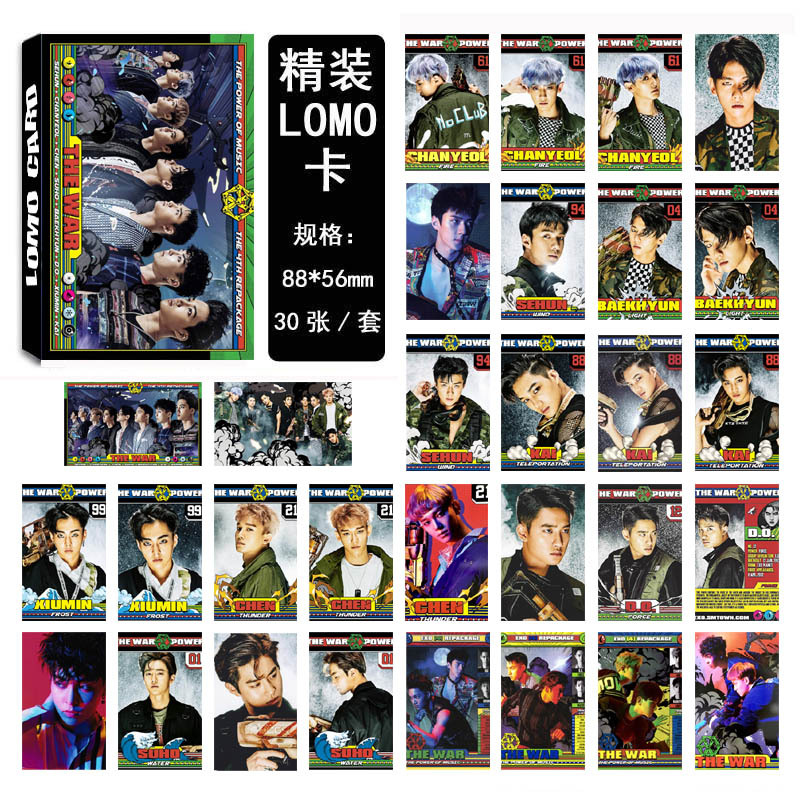 [MYKPOP] EXO THE WAR Album LOMO Cards 09 Paper Photo Card HD Photocard SA18030206