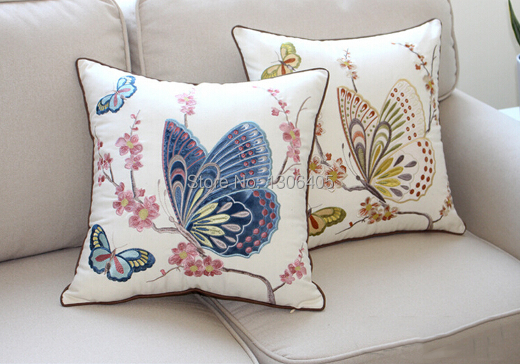Personalized Butterfly Heart Throw Pillow Cover : Popular Embroidered Butterfly Pillow-Buy Cheap Embroidered Butterfly Pillow lots from China ...
