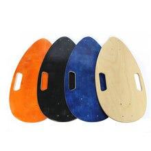 1 шт. 45x24 см рыбы доски палубы мини электрический скейтборд на заказ канадского клена single Rocker палубы