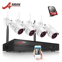 ANRAN 4CH Wireless NVR Kit P2P 960P HD Outdoor Waterproof IR Night Vision Security IP Camera Wifi CCTV System