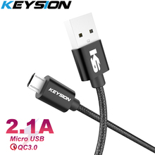 KEYSION Micro USB Cable 2a Nylon Fast Charge USB Data Cable for Samsung Xiaomi LG Tablet Android Mobile Phone USB Charging Cord стоимость