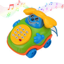 Hot Sellin New Baby Electric Phone Cartoon Model Gifts Early Educational Developmental Music Sound Learning Toys -17 775(China)