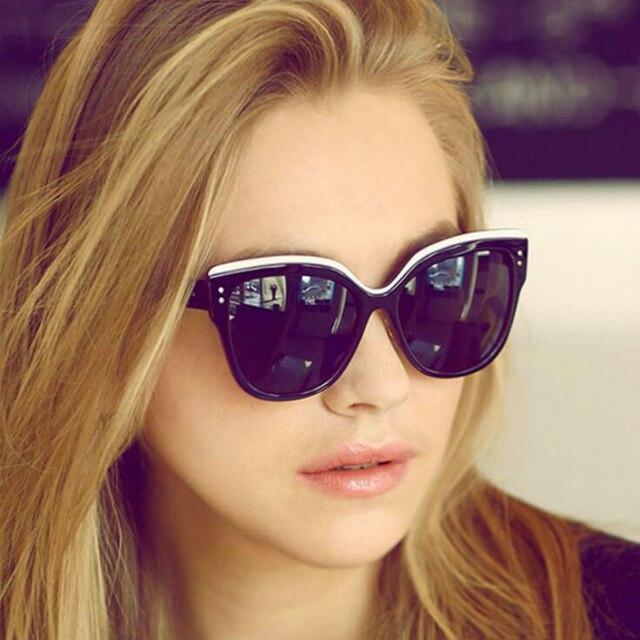 b77f0573bdc Haute qualité 2019 nouveau surdimensionné lunettes de soleil yeux de chat  femmes mode été Style grande