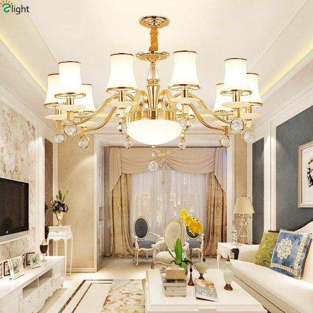 Modern Re Marble Led Chandeliers Lighting Gold Metal Living Room Pendant Chandelier Lights Bedroom Hanging