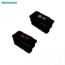 MOTOBOTS 1Pc Universal Double Arrow 5pins Car Power Window Switch 12V/24V 20A With illumination indicator  #FD-4494