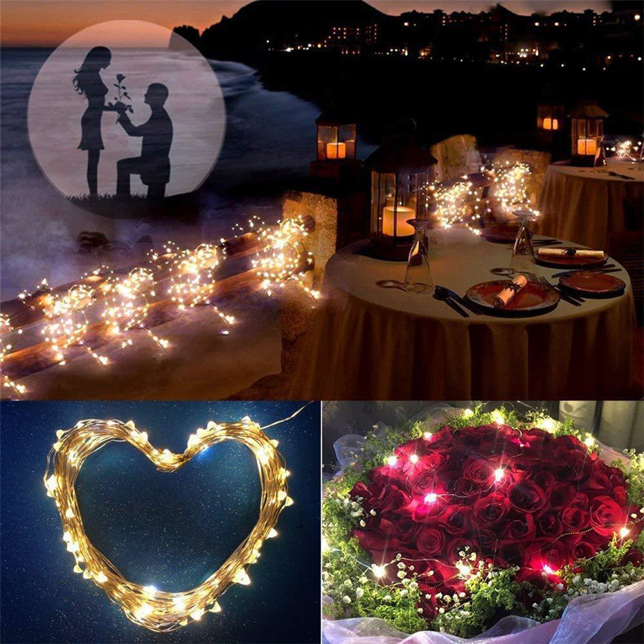 LED Garland Copper Wire String Fairy Lights gift decoration Wedding decoration