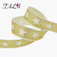 15mters Roll Wired Satin Glitter Ribbon 1 1 2 Christmas Decoration Supplies Gift Packing Materials