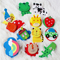 free shipping  12pcs/Set   Wooden Fridge Magnet Education Learn Cute Kid Baby Toy Cartoon animal fruit fridge magnets