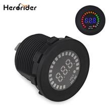 Herorider DC 12 V Auto Moto Marine Colore Tensione Gauge Auto Moto LED Digital Battery Tester di Volt del Tester del Voltmetro di Accessori