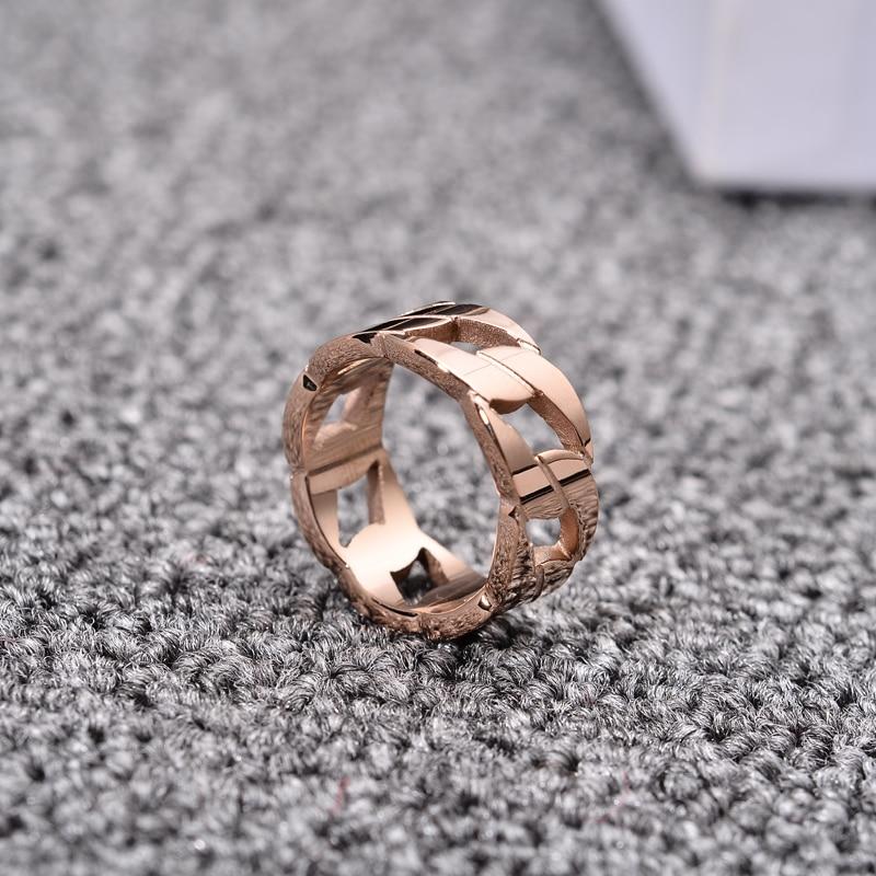 Новое поступление модных колец YUN RUO с толстой цепочкой цвета розового золота модные ювелирные изделия из титановой стали подарок на день ро...