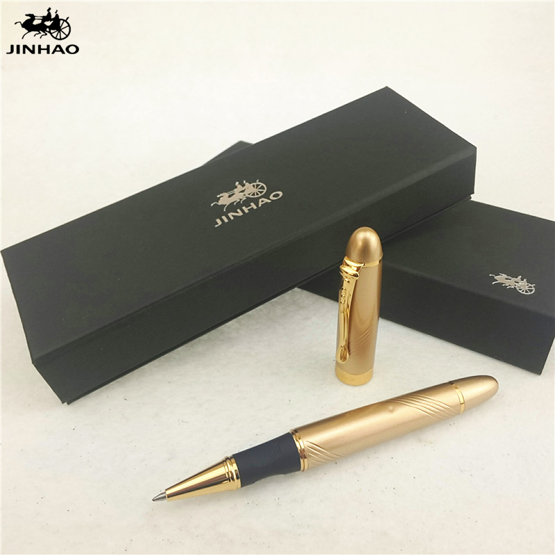 1pc/lot Jinhao X450 Roller Ball Pen Gold Color Engraving Material Escolar Stationery Jinhao Pen Stylo School Supplies 14.3*1.3cm 1pc lot picasso roller ball pen 902 pimio picasso ball pens engraving gold pen gold clip luxury school supplies 13 6 1 3cm