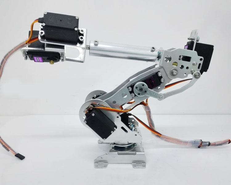 DLT730 Robot Arm 7-Axis 7 Dof Manipulator Industrial Educational Robot Arm + 7 Servos 6 dof robot arm six axis manipulators industrial robot model robot without controller mg996r
