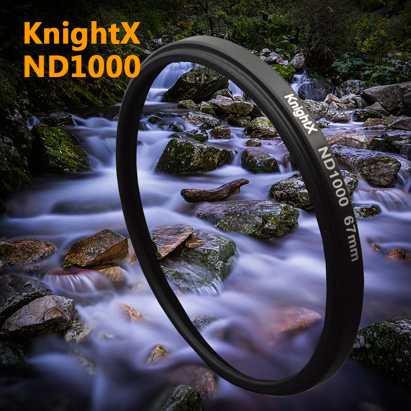 KnightX 52mm 58mm 67mm Neutral densitet ND 1000 ND1000 filter För Canon Nikon EOS 1100D 700D 650D D5200 D5300 Digitalkamera Objektiv