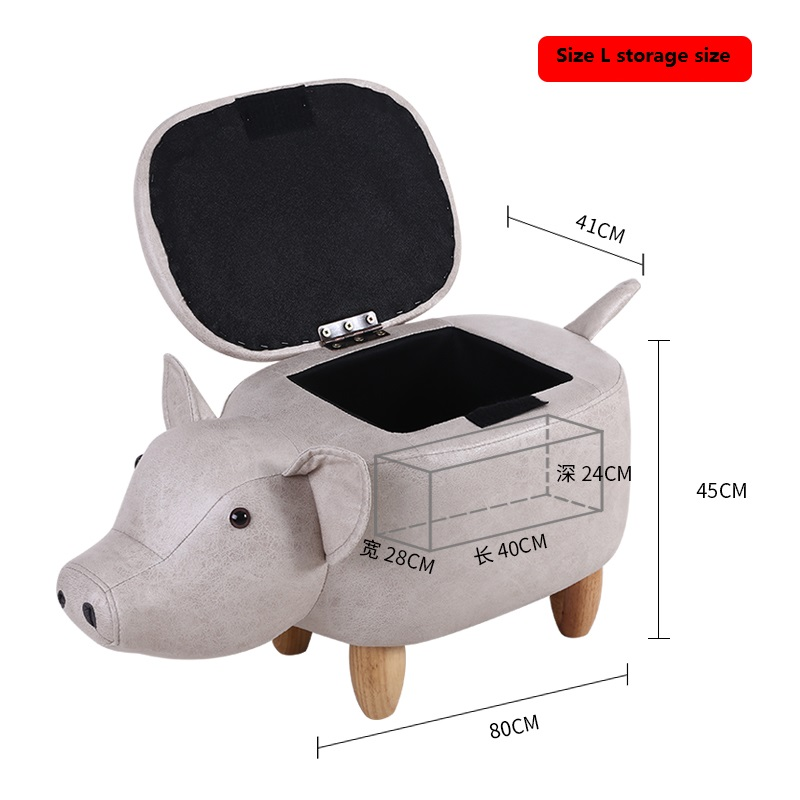 Creative pig storage bench shoes bench home change shoes bench test shoesl storage stool