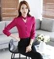 Trajes de Negocios formales Rosa Trajes de Pantalón Con Tops Y Pantalones Profesional Señoras de la Oficina Pantalones Conjunto Uniformes Ropa de Trabajo Pantalones Trajes