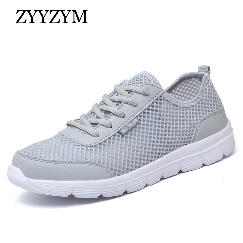 ZYYZYM Shoes Women Sneakers Spring Summer Shoes Flats Shoes Air Mesh Big Sizes Light Breathable Women Vulcanized Shoes Footwear