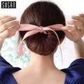 1PC Fashion Magic Tools Foam Sponge Messy Donut Bun Hairstyle Bows Headwear Elastic Hair Braiders Accessories Women Lady Girl