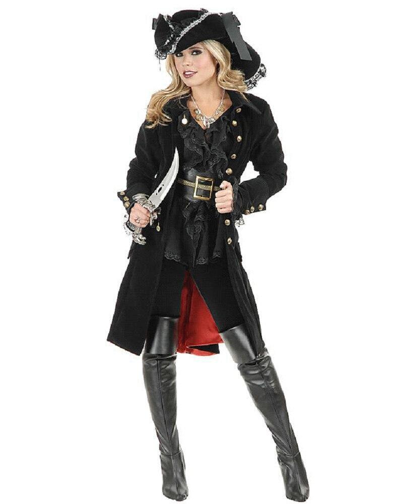 2016 Nueva Halloween Disfraces Mujeres jóvenes muchachas del pirata Knight Cavalier Vestir de largo-6404